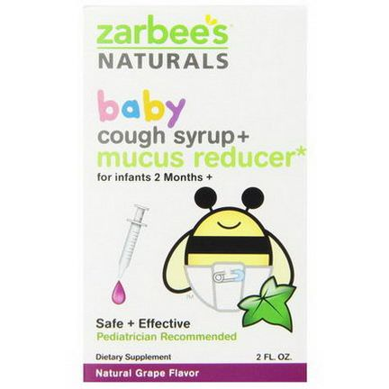 Zarbee's, Baby, Cough Syrup Mucus Reducer, Natural Grape Flavor, 2 fl oz