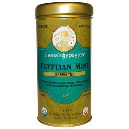 Zhena's Gypsy Tea, Organic, Egyptian Mint, Green Tea, 22 Sachets 44g