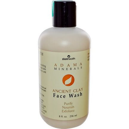 Zion Health, Adama Minerals, Ancient Clay Face Wash 236ml
