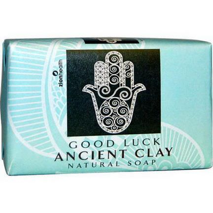 Zion Health, Ancient Clay Natural Soap, Good Luck 170g