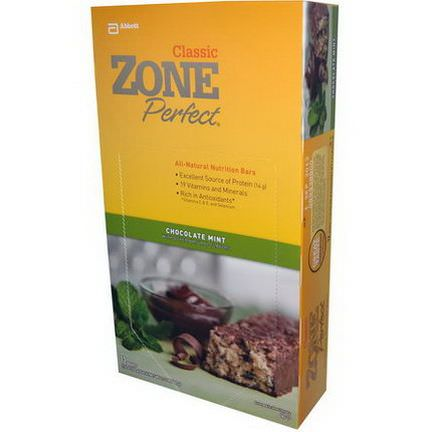 ZonePerfect, Classic, All-Natural Nutrition Bars, Chocolate Mint, 12 Bars 50g Each
