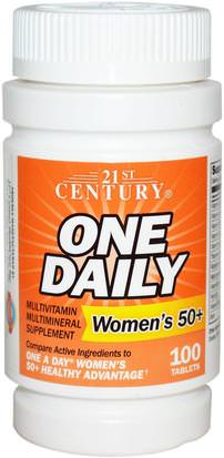 Vitaminas, Mujeres Multivitaminas 21st Century, One Daily, Womans 50+, Multivitamin Multimineral, 100 Tablets