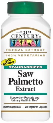 Salud, Hombres 21st Century, Saw Palmetto Extract, Standardized, 200 Veggie Caps