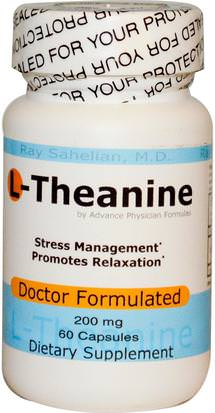 Suplementos, L Theanine, Salud, Humor Advance Physician Formulas, Inc., L-Theanine, 200 mg, 60 Capsules