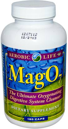 Suplementos, Minerales, Magnesio Aerobic Life, Mag 07, Oxygenating Digestive System Cleanser, 180 Veggie Caps