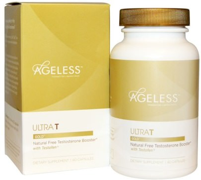 Salud, Hombres, Testosterona Ageless Foundation Laboratories, UltraT Gold, 60 Capsules