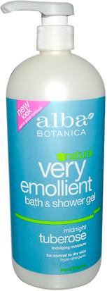 Baño, Belleza, Gel De Ducha Alba Botanica, Natural Very Emollient, Bath & Shower Gel, Midnight Tuberose, 32 fl oz (946 ml)