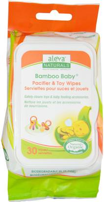 Toallitas Húmedas, Rescate Aleva Naturals, Bamboo Baby Wipes, Pacifier & Toy, 30 Wipes