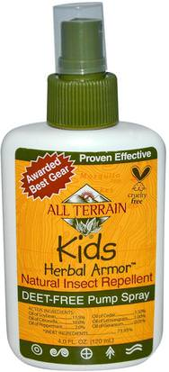 Productos Para El Hogar, Insectos Y Repelentes De Insectos, Bebés Y Niños All Terrain, Kids Herbal Armor, Natural Insect Repellent, 4 fl oz (120 ml)