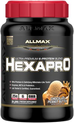 Comida, Keto Amigable ALLMAX Nutrition, Hexapro, Ultra-Premium Protein + MCT & Coconut Oil, Chocolate Peanut Butter, 3 lbs (1.36 kg)