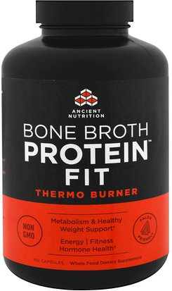 Deportes, Salud Ancient Nutrition, Bone Broth Protein Fit, Thermo Burner, 180 Capsules