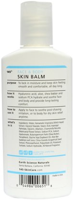 145 Intelligent Skincare for Men, Face & Body Skin Balm, By Earth Science, 5 fl oz (150 ml) Ciencias De La Tierra, Contra El Envejecimiento