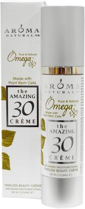 Baño, Belleza, Lociones De Argan Y Mantequillas Aroma Naturals, The Amazing 30 Cream, Anti-Aging Multi-Functional, 2 oz (60 g)