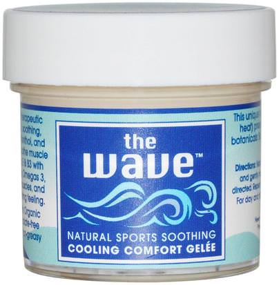 Salud, Piel, Aceite De Masaje, Anti Dolor Aroma Naturals, The Wave, Natural Sports Soothing, Cooling Comfort Gelee, 1 oz (30 g)