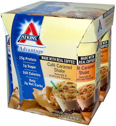 Dieet Atkins, Cafe Caramel Shake, 4 Shakes, 11 fl oz (325 ml) Each