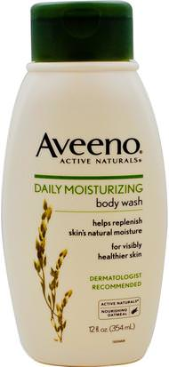 Cuerpo, Hidratación Diaria Aveeno, Active Naturals, Daily Moisturizing Body Wash, 12 fl oz (354 ml)