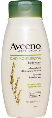 Cuerpo, Hidratación Diaria Aveeno, Active Naturals, Daily Moisturizing Body Wash, 18 fl oz (532 ml)