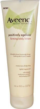 Cuerpo, Positivamente Sin Edad Aveeno, Active Naturals, Positively Ageless, Firming Body Lotion, 8.0 oz (227 g)