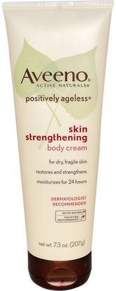 Cuerpo, Positivamente Sin Edad Aveeno, Active Naturals, Positively Ageless, Skin Strengthening, Body Cream, 7.3 oz (207 g)