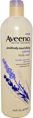 Cuerpo, Positvely Nutritiva Aveeno, Active Naturals, Positively Nourishing, Calming Body Wash, 16 fl oz (473 ml)
