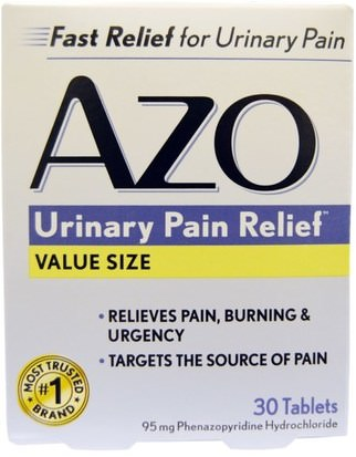 Salud, Salud Urinaria Azo, Urinary Pain Relief, 30 Tablets