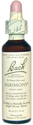 Salud Bach, Original Flower Remedies, Agrimony, 0.7 fl oz (20 ml)