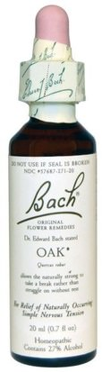 Salud Bach, Original Flower Remedies, Oak, 0.7 fl oz (20 ml)