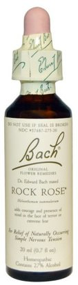 Suplementos, Homeopatía, Salud Bach, Original Flower Remedies, Rock Rose, 0.7 fl oz (20 ml)