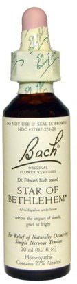 Suplementos, Homeopatía, Salud Bach, Original Flower Remedies, Star of Bethlehem, 0.7 fl oz (20 ml)