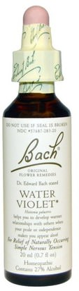 Salud Bach, Original Flower Remedies, Water Violet, 0.7 fl oz (20 ml)