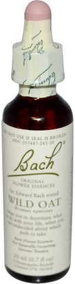 Salud Bach, Original Flower Remedies, Wild Oat, 0.7 fl oz (20 ml)
