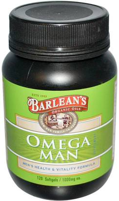 Salud, Hombres, Hombres De Las Barbillas Barleans, Omega Man Supplement, 1,000 mg, 120 Softgels