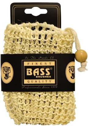 Baño, Belleza, Jabón Bass Brushes, Sisal Soap Holder Pouch, with Drawstring, 100% Natural Fibers, Firm, 1 Piece