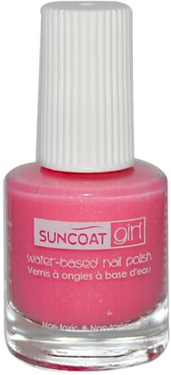 Suncoat Girl, Water-Based Nail Polish, Fairy Glitter 0.27 oz (8 ml) Baño, Belleza, Maquillaje, Esmalte De Uñas