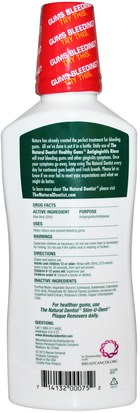 Natural Dentist, Healthy Gums, Antigingivitis Rinse, Peppermint Twist, 16.9 fl oz (500 ml) Baño, Belleza, Cuidado Dental Bucal, Enjuague Bucal