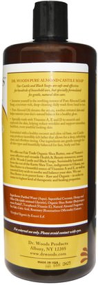 Dr. Woods, Almond Castile Soap with Fair Trade Shea Butter, 32 fl oz (946 ml) Baño, Belleza, Jabón, Gel De Ducha