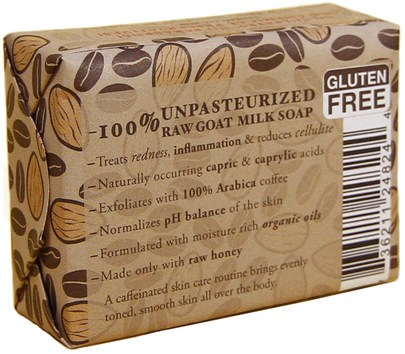 Tierra Mia Organics, Raw Goat Milk Skin Therapy, Exfoliating Soap Bar, Almond Coffee, 3.8 oz Baño, Belleza, Jabón