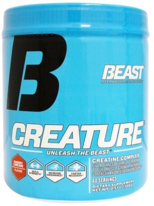 Deportes, Creatina En Polvo, Deporte Beast Sports Nutrition, Creature Powder, Cherry Limeade, 10.57 oz (300 g)