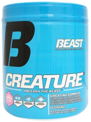 Deportes, Creatina En Polvo, Deporte Beast Sports Nutrition, Creature Powder, Pink Lemonade, 10.58 oz (300 g)