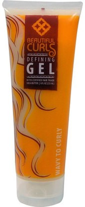 Baño, Belleza, Manteca De Karité, Gel Para El Cabello Beautiful Curls, Defining Gel, Wavy To Curly, 8 fl oz (235 ml)