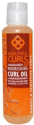 Baño, Belleza, Gel Para El Cabello Beautiful Curls, Nourishing Curl Oil, 4 fl oz (117 ml)