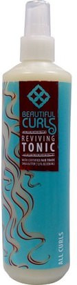 Baño, Belleza, Gel Para El Cabello Beautiful Curls, Reviving Tonic, All Curls, 12 fl oz (350 ml)