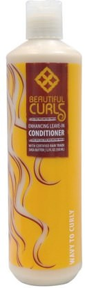 Baño, Belleza, Cabello, Cuero Cabelludo, Champú, Acondicionador, Acondicionadores Beautiful Curls, Shea Butter Enhancing Leave-In Conditioner, Wavy to Curly, 12 fl oz (350 ml)