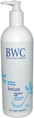 Baño, Belleza, Loción Corporal Beauty Without Cruelty, Fragrance Free Lotion, 16 fl oz (473 ml)