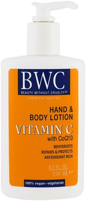 Vitamina C Beauty Without Cruelty, Vitamin C, With CoQ10, Hand and Body Lotion, 8.5 fl oz (250 ml)