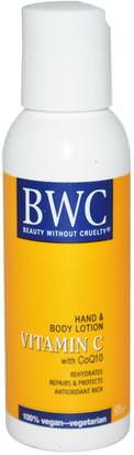 Vitamina C Beauty Without Cruelty, Vitamin C, With CoQ10, Hand & Body Lotion, 2 fl oz (59 ml)
