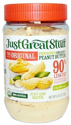 Comida, Mantequilla De Maní Betty Lous, Just Great Stuff, Powdered Organic Peanut Butter, The Original, 6.35 oz (180 g)