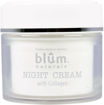 Salud, Piel, Cremas De Noche Blum Naturals, Night Cream with Collagen, 1.69 oz (50 ml)