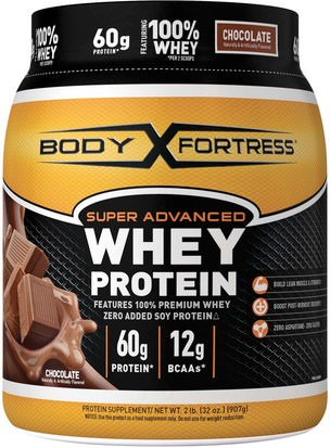 Suplementos, Proteína De Suero, Deporte Body Fortress, Super Advanced Whey Protein, Chocolate, 32 oz (907 g)