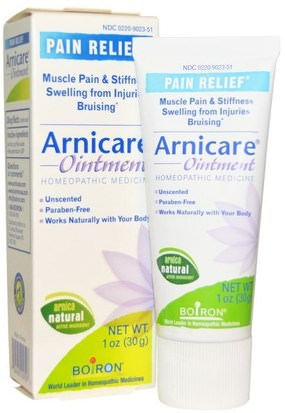 Hierbas, Árnica Montana, Dolor-Trauma Boiron, Arnicare Ointment, Pain Relief, Unscented, 1 oz (30 g)